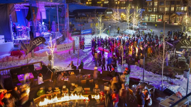 Party town: Night-life abounds on the slopes.