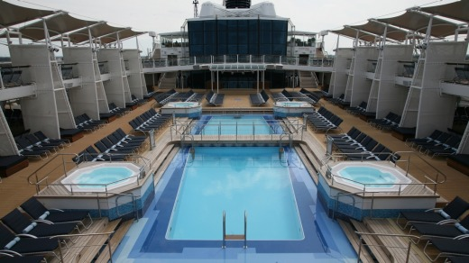 Time for a dip: The Celebrity Silhouette pool.