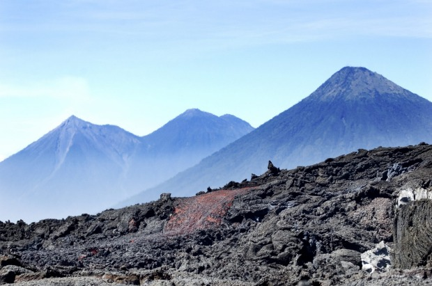 Watch your step or your boots will start smoking: Volcan Pacaya, Guatemala.