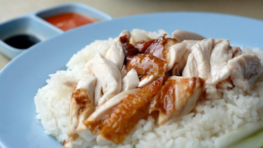 Hainanese chicken rice: The dish Singapore has made its own.