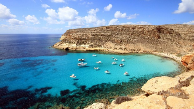 Cala Pulcino, Sicily: You're most likely have this white sand cove with terrific views over the Mediterranean all to ...