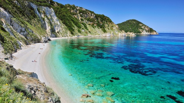 Spiaggia di Sansone, Tuscany: Located on Isola d'Elba (Elba island), just a short ferry ride from the region's rolling ...