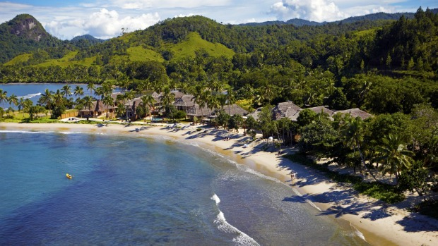 Nanuku private island resort: Located on a stretch of secluded coastline at Fiji's Pacific Harbour, Nanuku features six ...