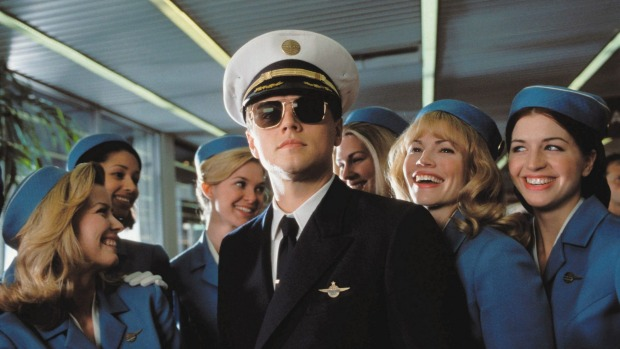 Leonardo DiCaprio poses as a pilot in the movie 'Catch Me If You Can'.