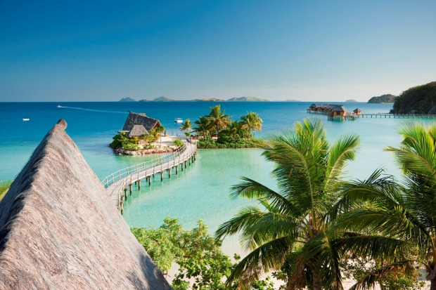 Likuliku Lagoon Resort, Fiki: The over-water bungalows offer superlative ocean views, and glass-floor panels reveal ...