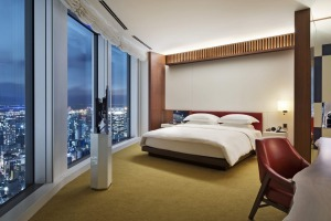 High times: A large king room at the Andaz.