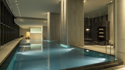 The spa and pool.