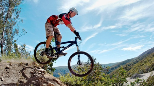 Summer in the mountains: Mount Buller is great for off-road cycling.