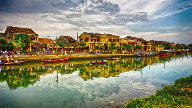 The ancient town of Hoi An in Vietnam on a hot and humid afternoon in April this year, busy with tourists and locals ...