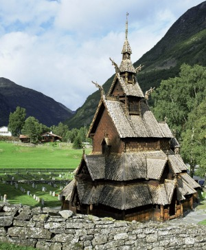 The 12th Century Borgund Stave Church.