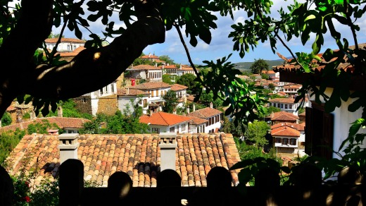 A view of Sirince from the terrace of the Fig House.