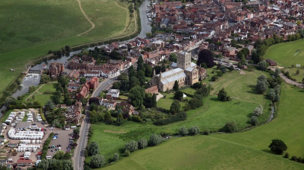 Picturesque: Tewkesbury, in Gloucestershire.