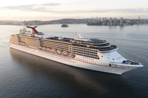 The Carnival Legend arrives in Sydney.