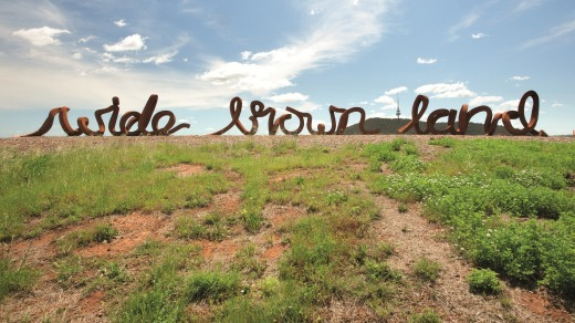 Write of passage: The ''wide brown land'' sculpture.