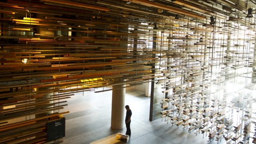 Wow factor: The lobby entrance of Hotel Hotel in New Acton.