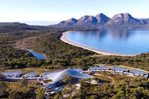 Sea and spa ... (from left) a bird's-eye view of Saffire