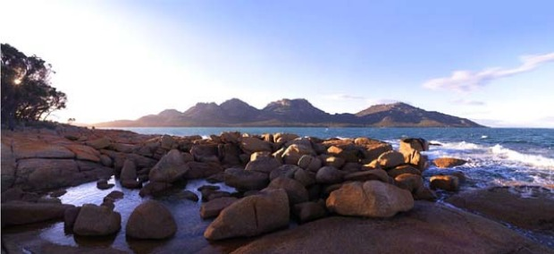 The property faces a peninsula loved by many: two outcrops of granite - the Hazards and mounts Graham and Freycinet - ...