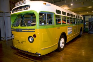 Step aboard: The bus where Rosa Parks famously refused to give up her seat.