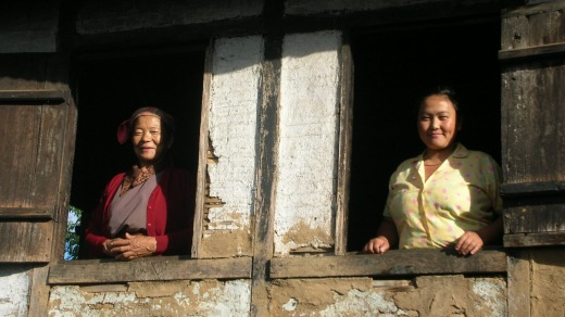 Villagers near Sikkim.