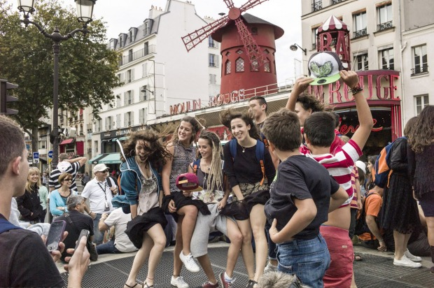 A favourite attraction among tourists to Paris, the Moulin Rouge hosts 600,000 guests a year.