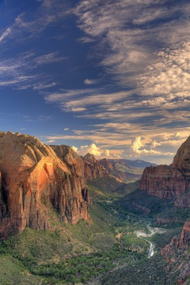 Where the desert erupts in waterfalls: Zion National Park, Utah.