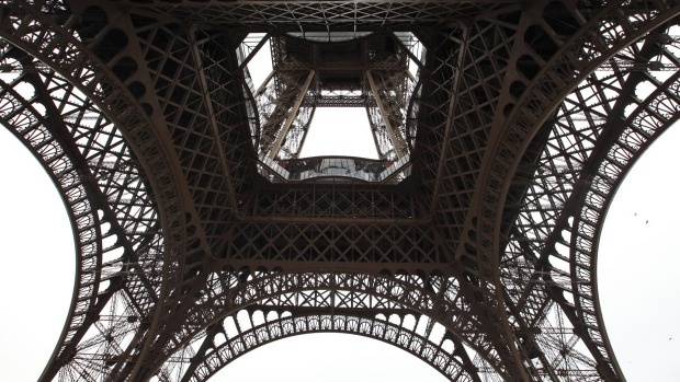 The glass floor panels on the first level of the Eiffel Tower is 57 metres high.