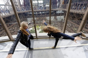 The new solid-glass floor allows visitors to have birds eye view from 57 metres above the ground.