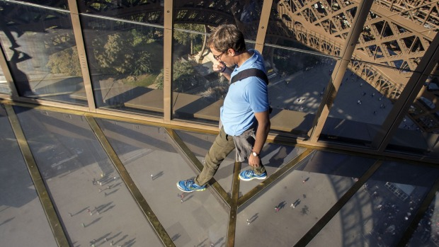 From a height of 57 metres, visitors can look down through solid glass while the sensation of walking on air is further ...