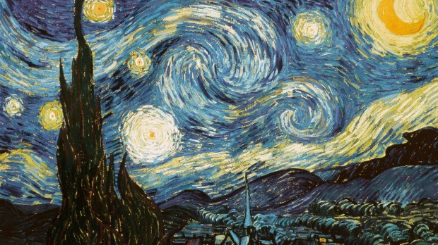 STARRY NIGHT, VINCENT VAN GOGH - MUSEUM OF MODERN ART, NEW YORK. Van Gogh painted Starry Night in June 1889, a few weeks ...