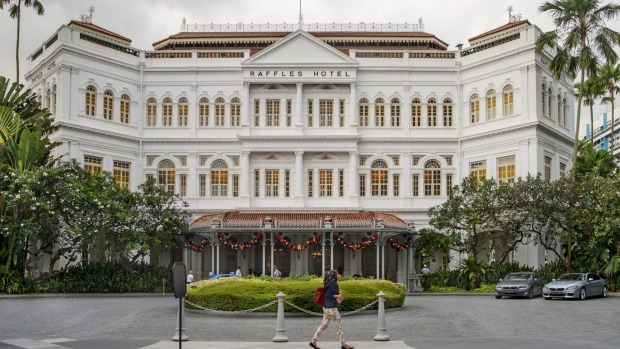 The Raffles Hotel Singapore, where the Singapore Sling was first invented.