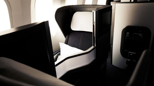 'Club World' business class on a British Airways 787 Dreamliner.