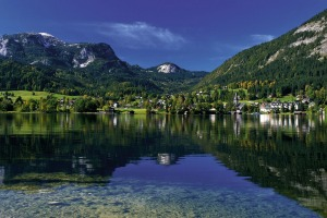 Picture perfect: The lake and village of Altaussee is considered one of the most beautiful places in Austria.