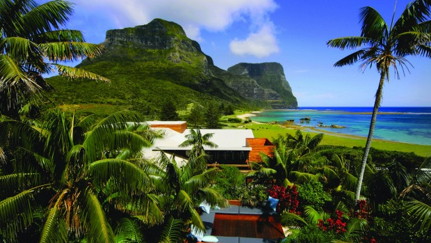A view from the luxuriois Capella Lodge on Lord Howe Island.
