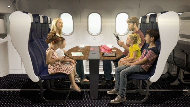 Thomson Airways concept for a family booth on board a Boeing 737 Max.