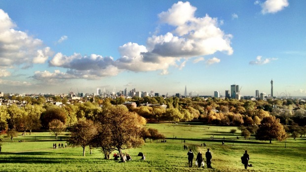 View from the top: Primrose Hill in North London.