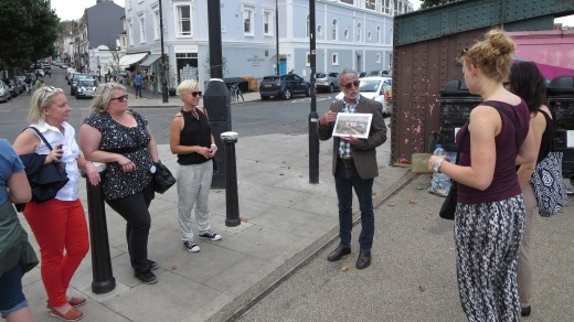 History lesson: Mike O'Hara on the Camden Contrasts tour.