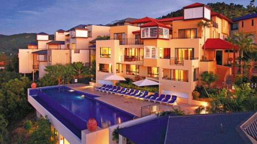 Pinnacles Resort & Spa, perched on a steep hill to take advantage of the sweeping view.