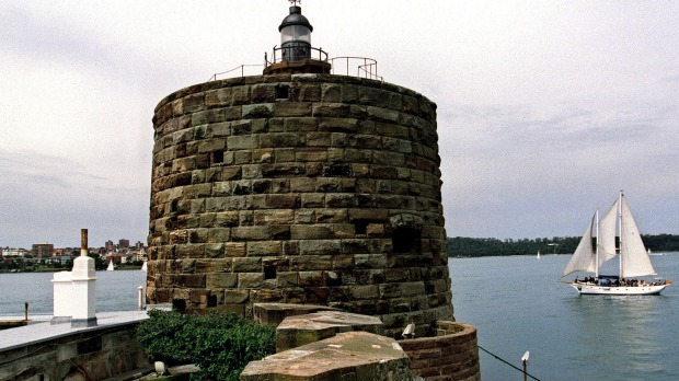 Sweeping panoramas of Sydney Habour: Fort Denison in Australia.