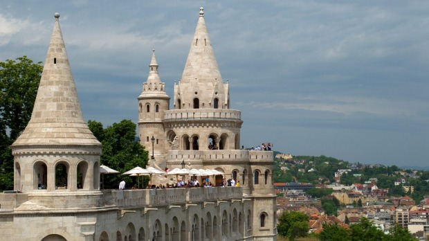 Fine views: Fishermans bastion on Castle Hill in Budapest.
