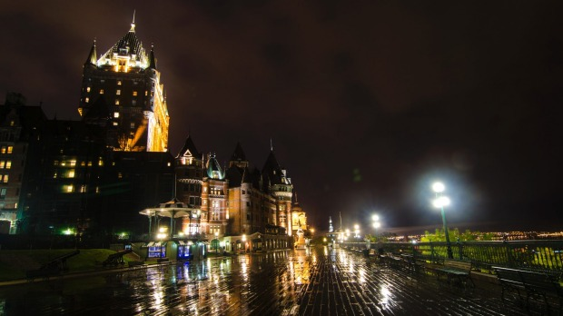 Topped by a chateau so wildly grandiose: Frontenac Castle along the Dufferin Promenade (Terrace).