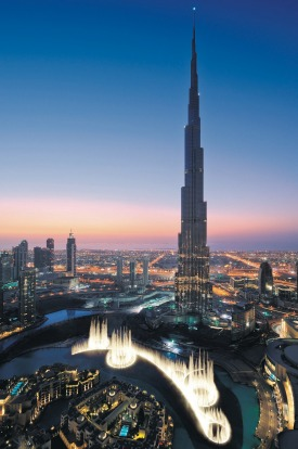 Vertigo-inducing views: The Burj Khalifa in Dubai.