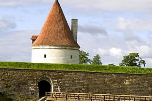 The tower of Kuressaare Castle in Estonia.