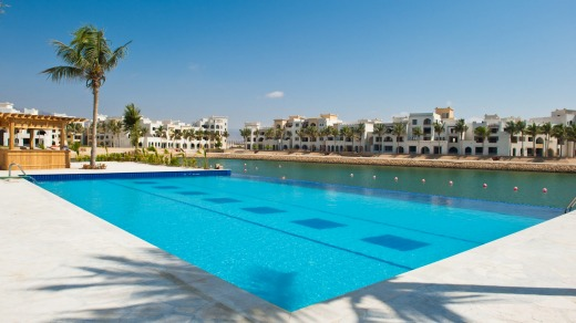 Resort style: The beach pool at Juweira Hotel, in Salalah.