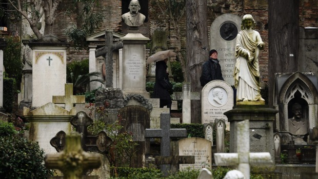 Resting place: Rome's Non-Catholic Cemetery contains one of the highest densities of famous and important graves ...