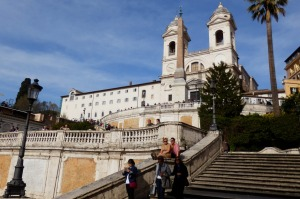 Popular destination: The Spanish Steps.