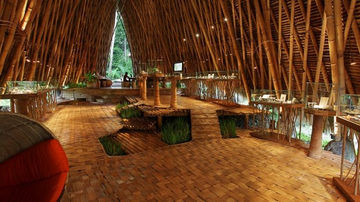 Bamboo-clad interior: The John Hardy workshop and jewellery showroom.