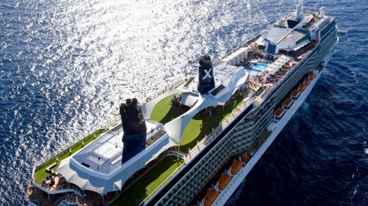 Luxury cruiser: The Celebrity Solstice.