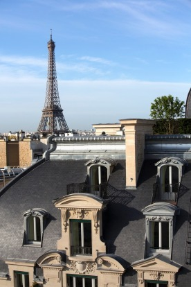 Paris perfection: The hotel offers stunning views of the Eiffel Tower.