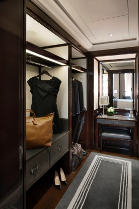 The dressing room in a superior suite.