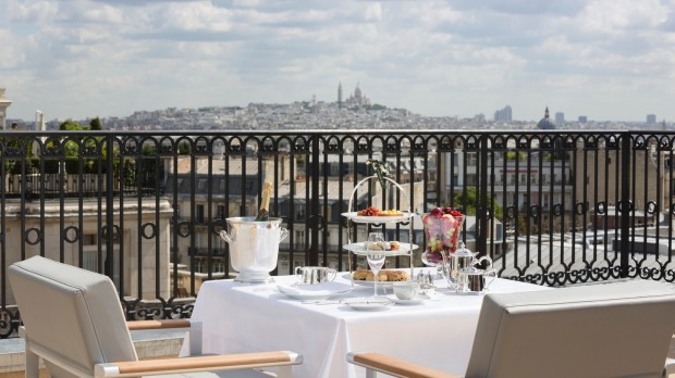 A view of Montmartre from the Terrace L'Oiseau Blanc.